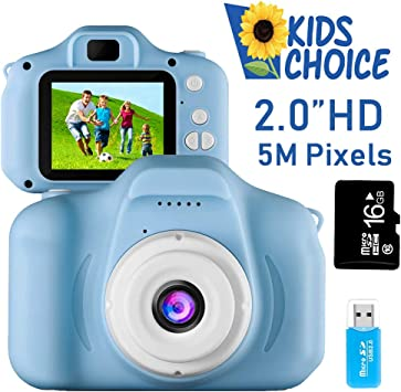 Coodoo Kids Camera Toys For 4 8 Year Old Boys Toddler Rechargeable Cameras With 2 Inch Ips Screen For Children Birthday Gift Ideafree 16gb Memory