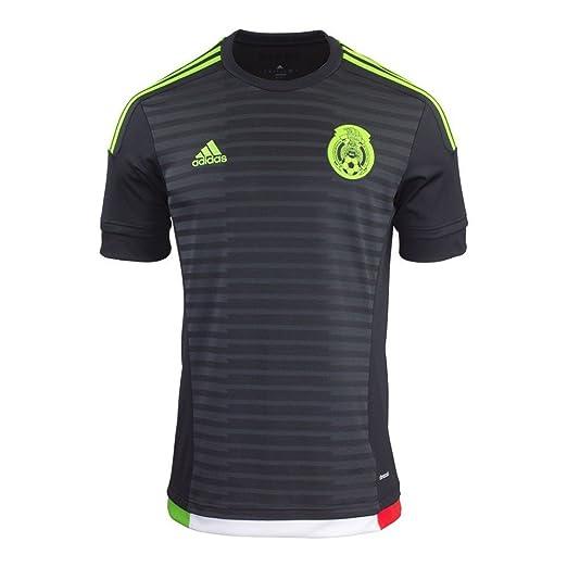 238cd2f57e9b Amazon.com  Adidas Mexico Home Jersey-BLACK  Sports   Outdoors