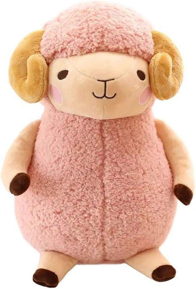 Naiyn Poca muñeca ovejas de Peluche de Juguete muñeca muñeca Blanca de Cordero Cabra Almohada for Dormir Super Lindo Color Rosa ovejas Perezoso Lindo (Color : Rosado, tamañ