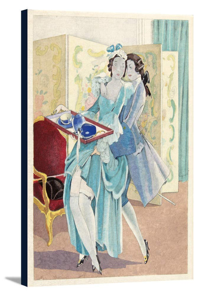 La Lecon D ' Amour Dans Un Parcヴィンテージポスター(アーティスト: Brunelleschi、Umberto )フランスC。1933 24 x 36 Gallery Canvas LANT-3P-SC-65445-24x36 B0184AWXZM  24 x 36 Gallery Canvas