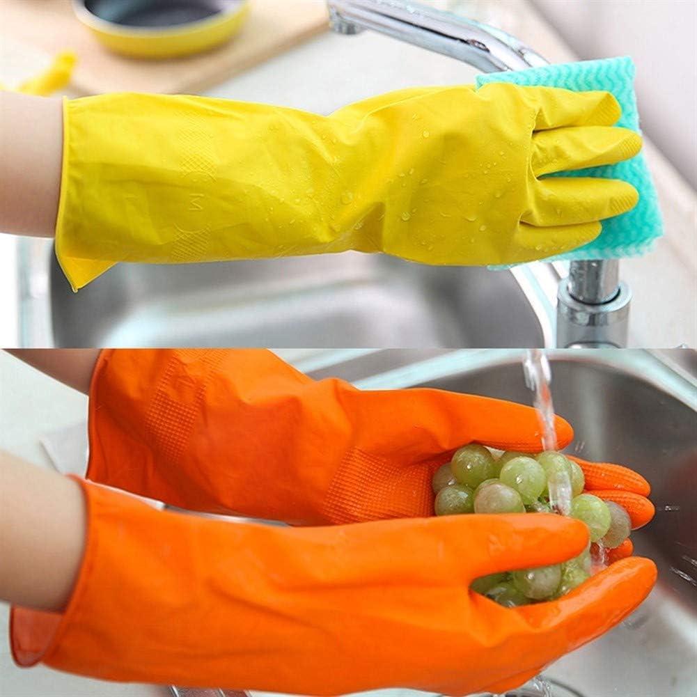 1 paire /à manches longues lavage nettoyage de la vaisselle de cuisine Gants Jaune Gants imperm/éables /à leau Dishwash caoutchouc Gants en latex naturel Color : Yellow, Size : S