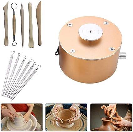 12 V 1500 RPM Mini Elektrische T/öpferscheibe Maschine Aluminium DIY Keramik Kunst #1 Die Maschine