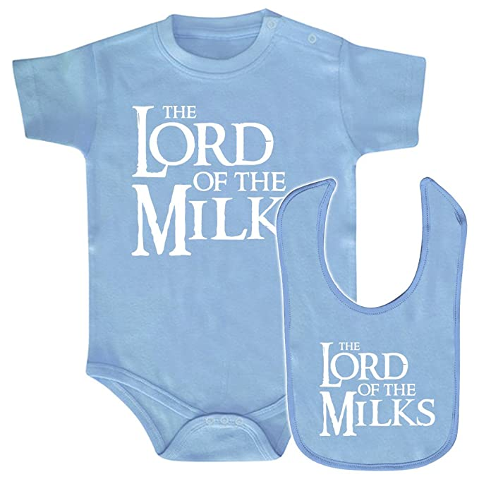 Pack body bebé y babero The Lord of the milks (El señor de los anillos