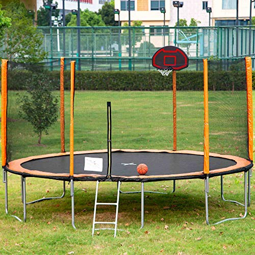INGSWELL-14-FTwith-Basketball-Hoop-Ladder-Outdoor-Garden-Coating-Trampoline-Passed-ASTM-F381-and-ASTM-F2225-Test-Safe-and-Stable-Suitable-for-Children-and-Family-Entertainment-Trampoline