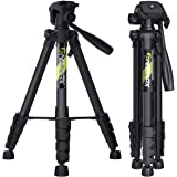 "Endurax 66"" Video Camera Tripod for Canon Nikon Lightweight Aluminum Travel DSLR Camera Stand with Universal Phone Mount…"