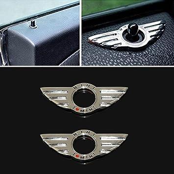 Amazon.com: Dealglad® 2pcs Car Door Lock Metal Wing Emblem ...