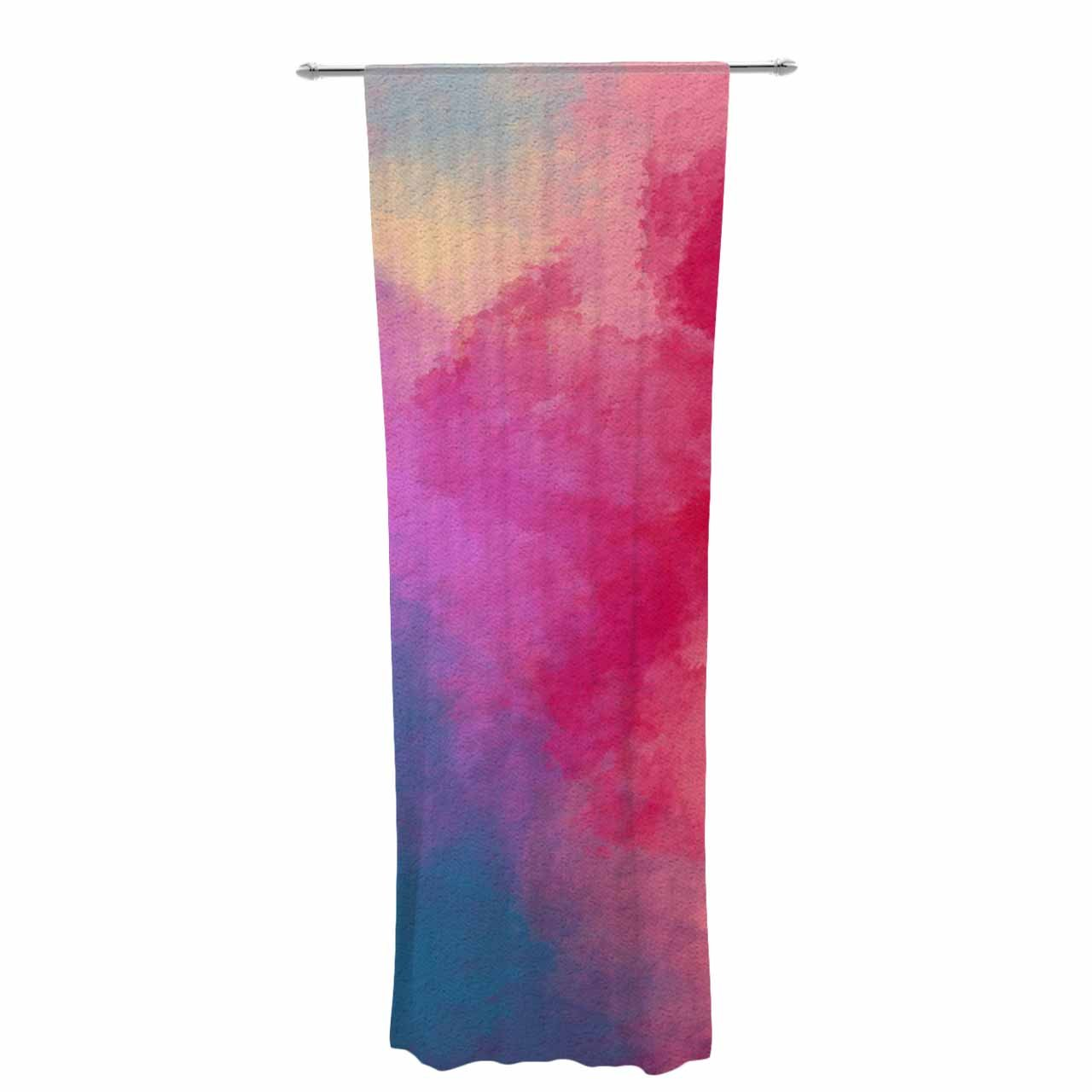 Kess InHouse Viviana Gonzalez Abstract 01' Pink Blue Decorative Set, 30' x 84' Sheer Curtains