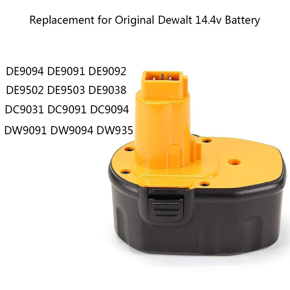 2x AKKU ersetzt Dewalt 14,4V 3000mAh 3Ah DE-9094 DE-9502 DW-9091 DW-9094