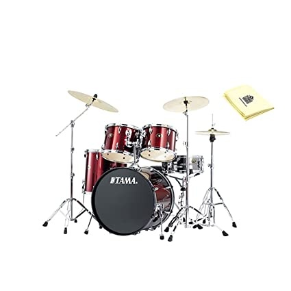 Amazon Com Tama Ip52kccpm Imperialstar 5 Piece Drum Kit In Red With