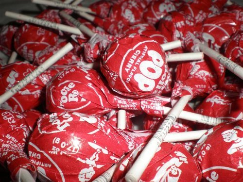 Tootsie Pops 9lb bulk (Cherry) (Cherry Tootsie Roll Pops)