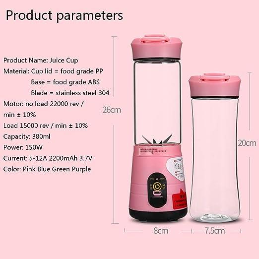 Mini exprimidor portátil, mini licuadora casera, puerto USB y ...