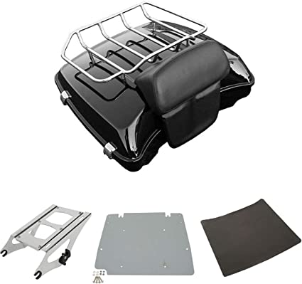 XFMT 4 Point Docking Hardware Luggage Rack Compatible with Compatible with Harley Davidson Touring 2014-2018