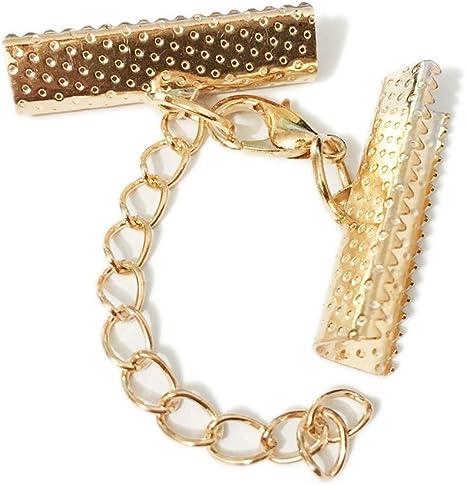 24 Set Crimp Ends Cover Lobster Clasp Cords End Caps Necklace Bracelet Craft