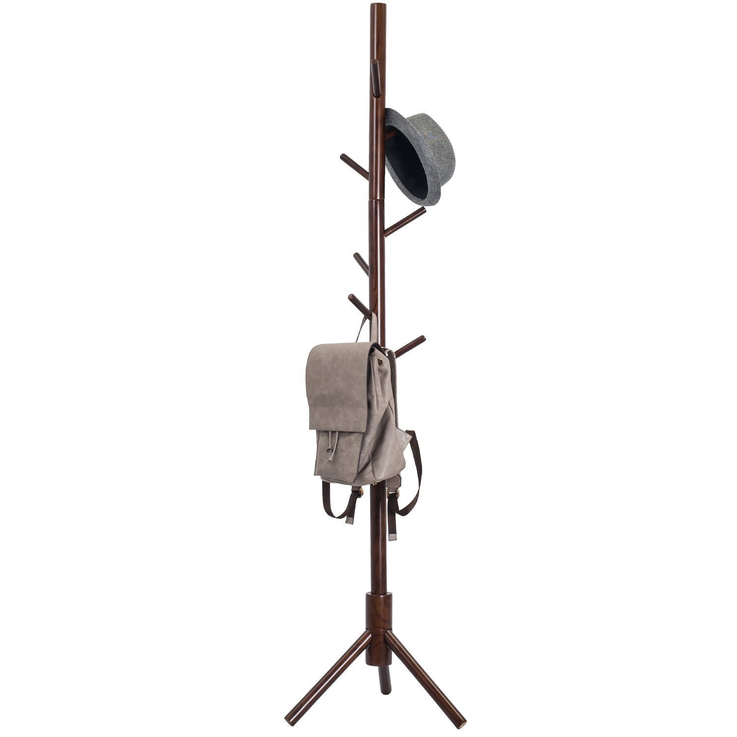 Amazoncom Tophomer 9 Hook Wooden Stand Rack 175Cm Tree Style