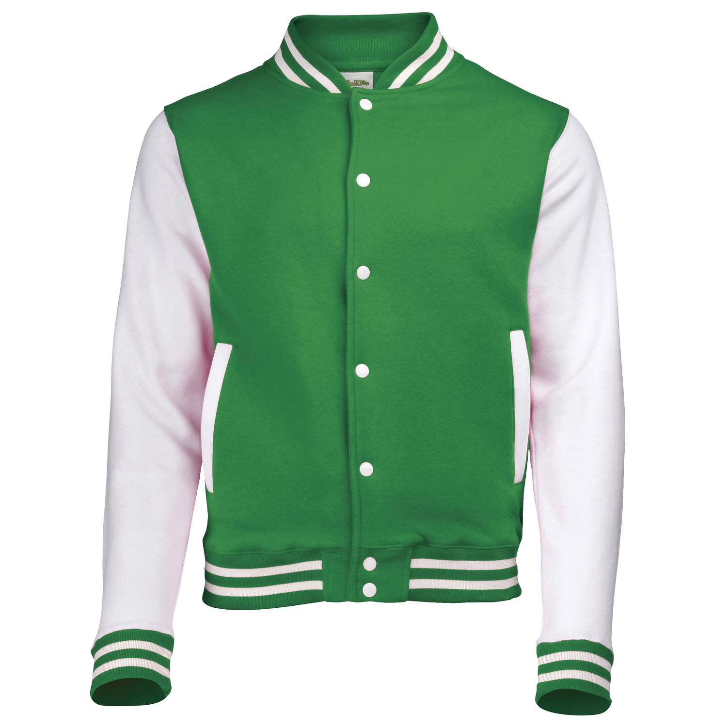 Awdis Varsity jacket - 16 Colours - Sizes XS to 2XL - Jet Black/Fire Red - S at Amazon Womens Clothing store: