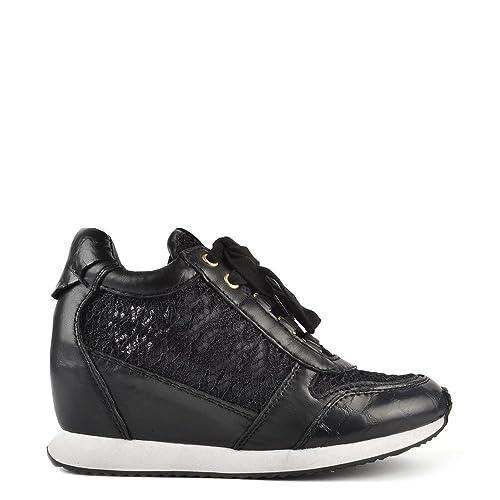 Ash Zapatos Dream Zapatillas Cuña Mujer 41 EU Negro: Amazon.es: Zapatos y complementos