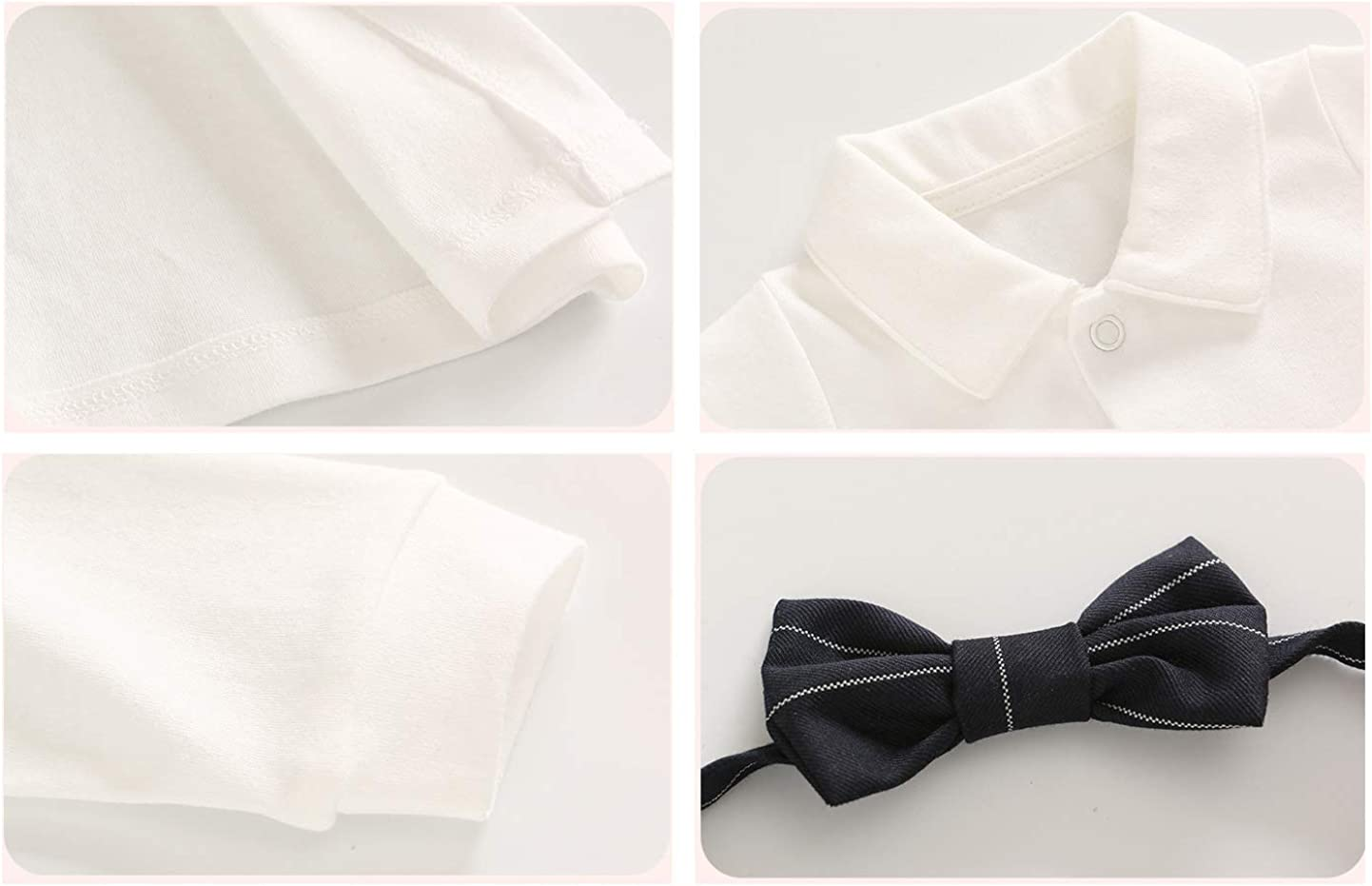 ZIHUOKIJ 2 Unids Niño bebé Hidalgo Equipar Conjunto Camisa Blanca con Lazo y pantalón de Liga Size 90(12-18Meses) (White): Amazon.es: Ropa y accesorios