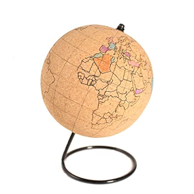 L&C Traveler Mini Cork Globe (Color-in Version): Office Products