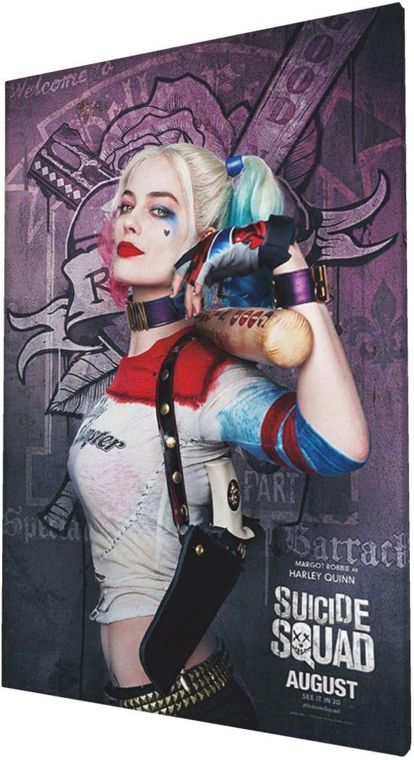 Harley Quinn Suicidé Squad Stretched Canvas ~ More Size