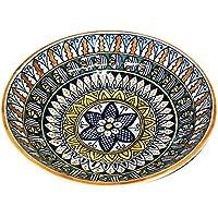 CERAMICHE D'ARTE PARRINI - Italian Ceramic Pottery Serving Bowl Centerpieces Decorated Deruta Made in ITALY Tuscan