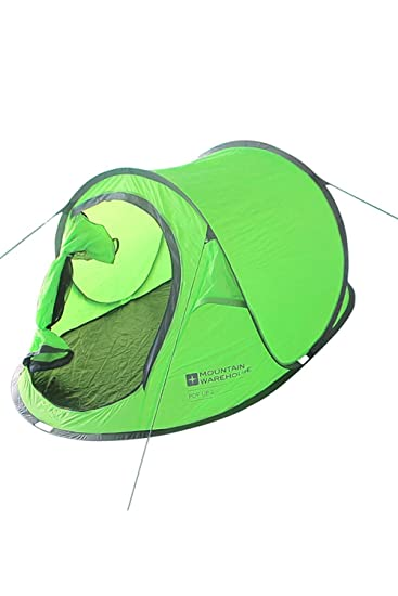 best service 4380a ac7d8 Mountain Warehouse Pop-Up Tent - 2 Man Festival Summer Camping Tent