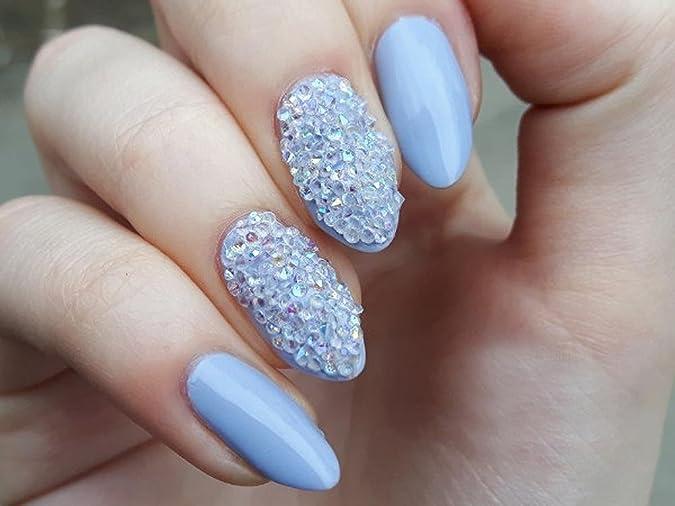Mini piedras acrílicas brillantes para uñas (250 unidades) de 1,2 mm: Amazon.es: Joyería