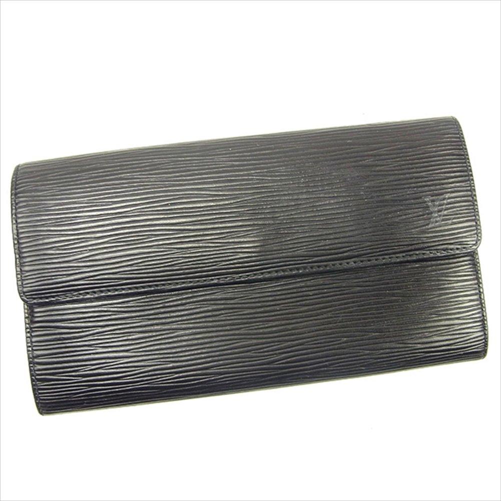 (ルイ ヴィトン) Louis Vuitton 長財布 ノワール(黒) ポルトモネクレディ エピ レディース メンズ 可 中古 T457 B0772PCDMH
