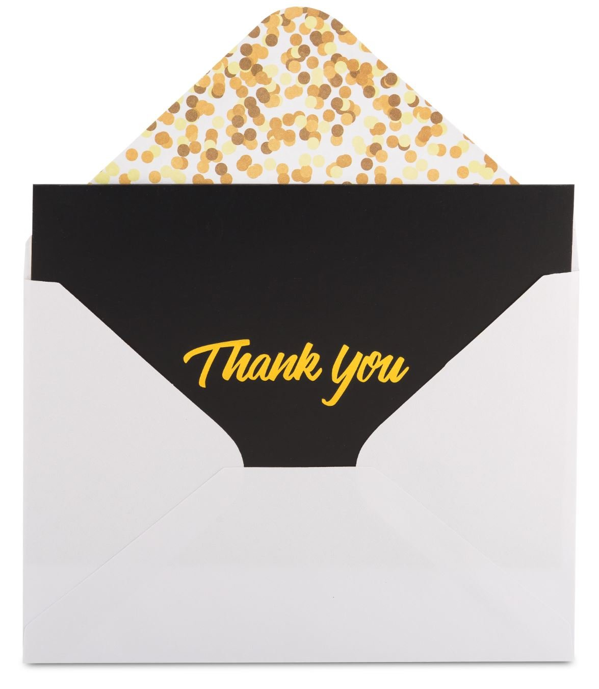 100 Thank You Cards with Envelopes - Thank You Notes, Black & Gold Foil - Blank Cards with Envelopes - For Business, Wedding, Graduation, Baby/Bridal Shower, Funeral, Professional Thank You Cards Bulk by FORTIVO (Image #4)