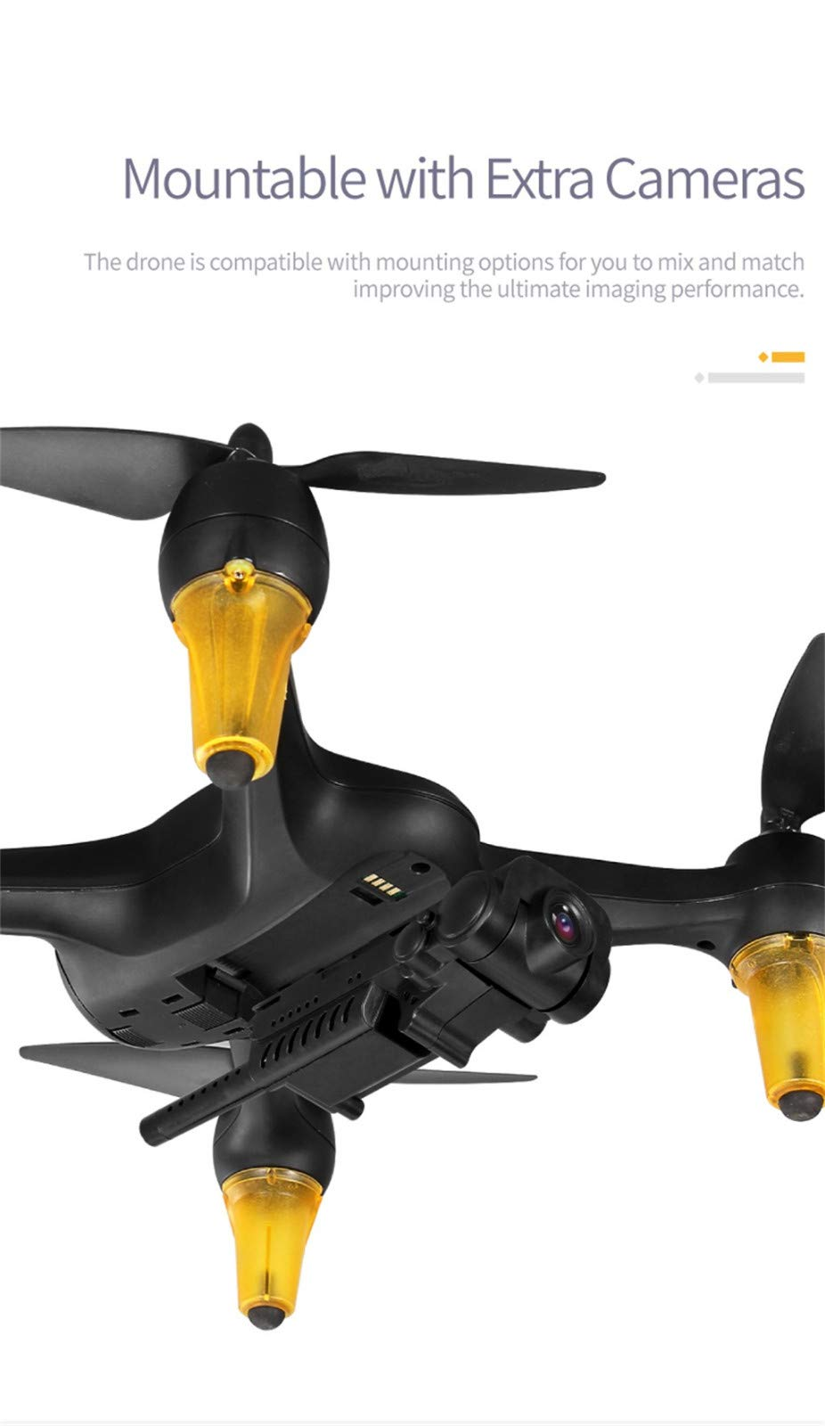 MOZATE JJR/C X3P GPS 5.8G WiFi FPV Wide-Angle 1080P Brushless RC Quadcopters Drone RTF (Black) by MOZATE (Image #8)