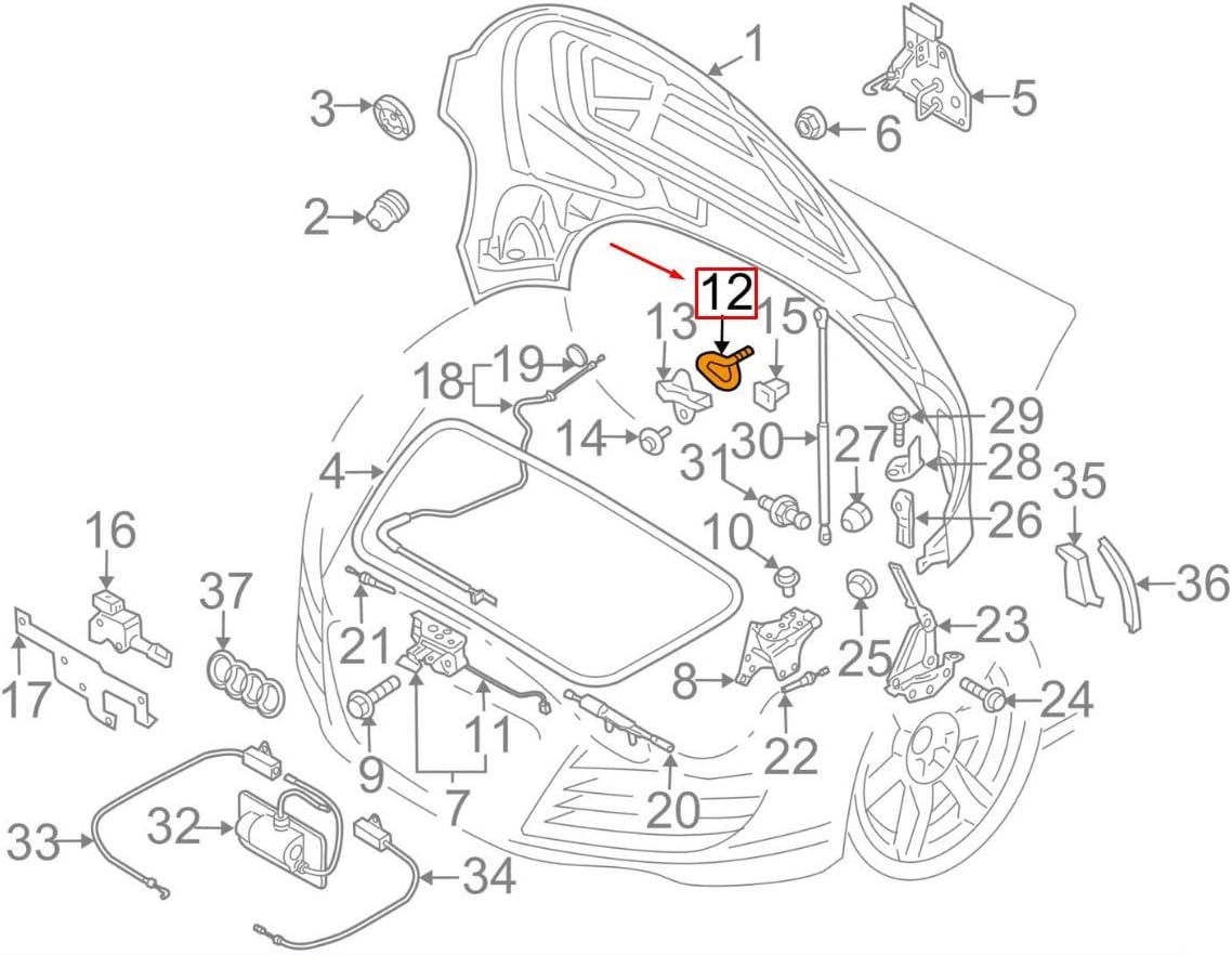 GTV INVESTMENT A8 D3 Barre de loquet gauche = droite 4E0823197A