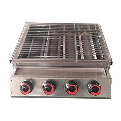 Amazon com : ITOPKITCHEN 4 Burner Barbecue Gas Grill LPG