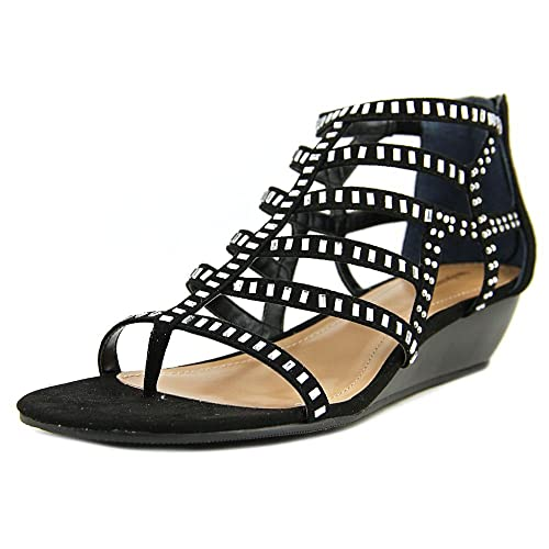Style Co Womens Bradey Split Toe Casual Ankle Strap Sandals Black Size 90