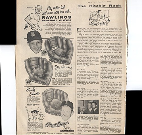 - Rawlings Baseball Glove Play Better Ball And Have More Fun With Rawlings Baseball Gloves Stan Musial St Louis Cardinals Mickey Mantle 1958 Vintage Antique Advertisement