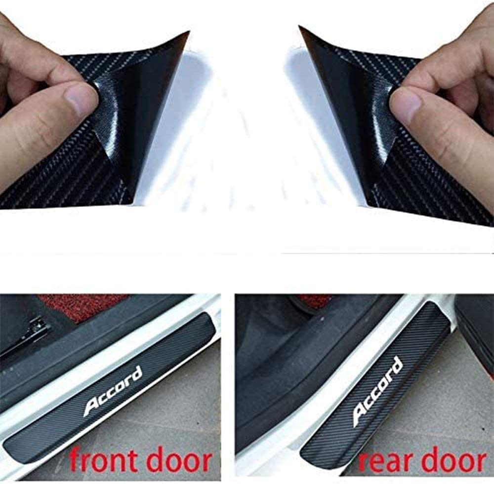 Nobrand Accord Decal Sticker Carbon Fibre Vinyl Reflective Car Door Sill Decoration Scuff Plate for Honda Accord Blue Film Wrap Cleaner Scraper/