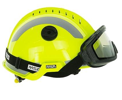 MSA Safety – Casco protector F2 X -Trem | con gafas | Amarillo | reflectantes