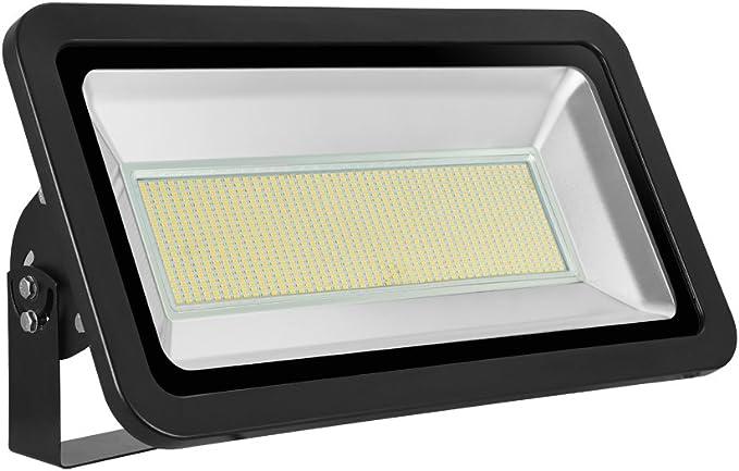 Foco proyector LED 500W para exteriores, 40000LM, Blanco cálido ...
