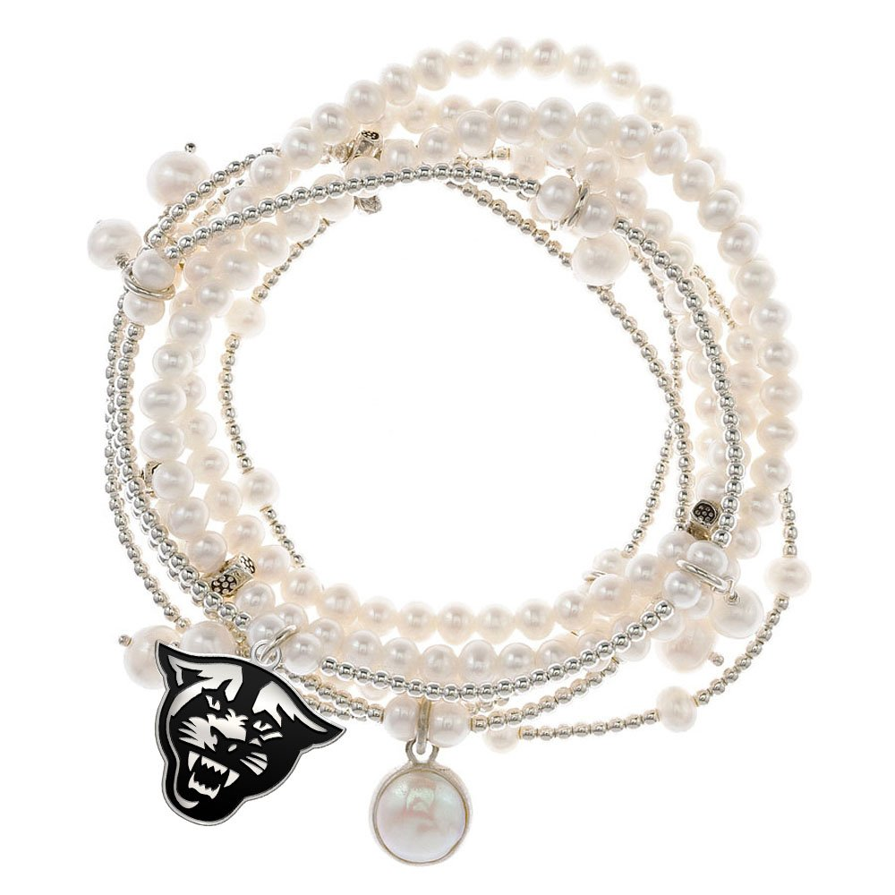 Georgia State Panthers 7 Strand Freshwater Pearl and Silver Bracelet
