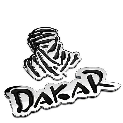 Dakar world rally racing vintage chrome metal car styling emblem badge cool auto exterior decoration 3d