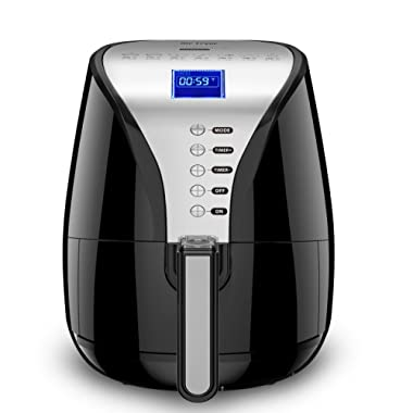 Habor Air Fryer, 3.8QT Air Fryer Xl Oven, Oilless Deep Fryer Cooker with Digital LCD Screen, 1500W Power Air Fryer Auto Off and Memory Function, Detachable Basket Dishwasher Safe, Recipes Included