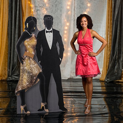 Shindigz 7 ft. Sequins & Bow Ties Couple Standee
