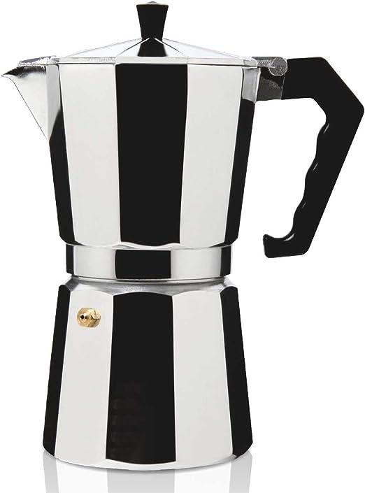 HAEGER Moka Pot 12 - Cafetera Italiana para Uso en Todos los Elementos de Calefacción Excepto Inducción, Capacidad 12 Tazas: Amazon.es: Hogar