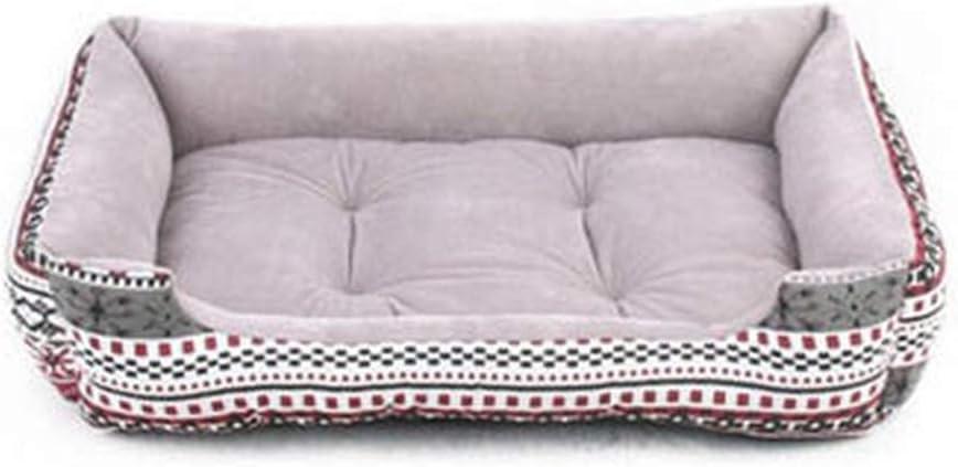 Legoushop-pet-crates Striped Pets Bed House Large Dog Mats Cushion Warm Large Dog Puppy Sleeping Sofa Cat Beds Xs/S/M/L/XL,Black,Xs 50X38X15Cm