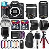 Holiday Saving Bundle for D7100 DSLR Camera + AF-P 70-300mm VR Lens + AF-P 18-55mm + Flash with LCD Display + 6PC Graduated Color Filter Set + 2yr Extended Warranty + 32GB - International Version