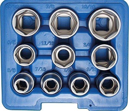 BGS 6182,4cm CRV Clé à douille Lot de 12,5mm 1/2Lot de 10