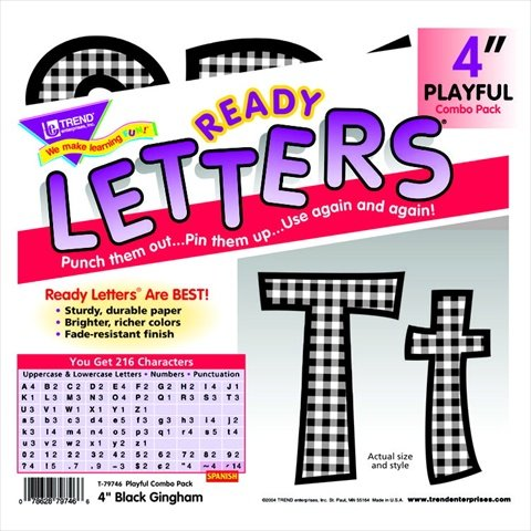 Uppercase And Lowercase Playful Decorative Letter44; 4 In. - Blue - Trend Enterprises 080049