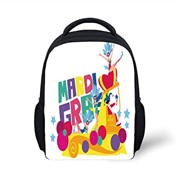 8175b7e6d925 Amazon.com  iPrint Kids School Backpack Mardi Gras