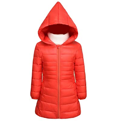 Abetteric Girls Zipper Thicken Stylish Solid Hood Outwear Clothes Tops
