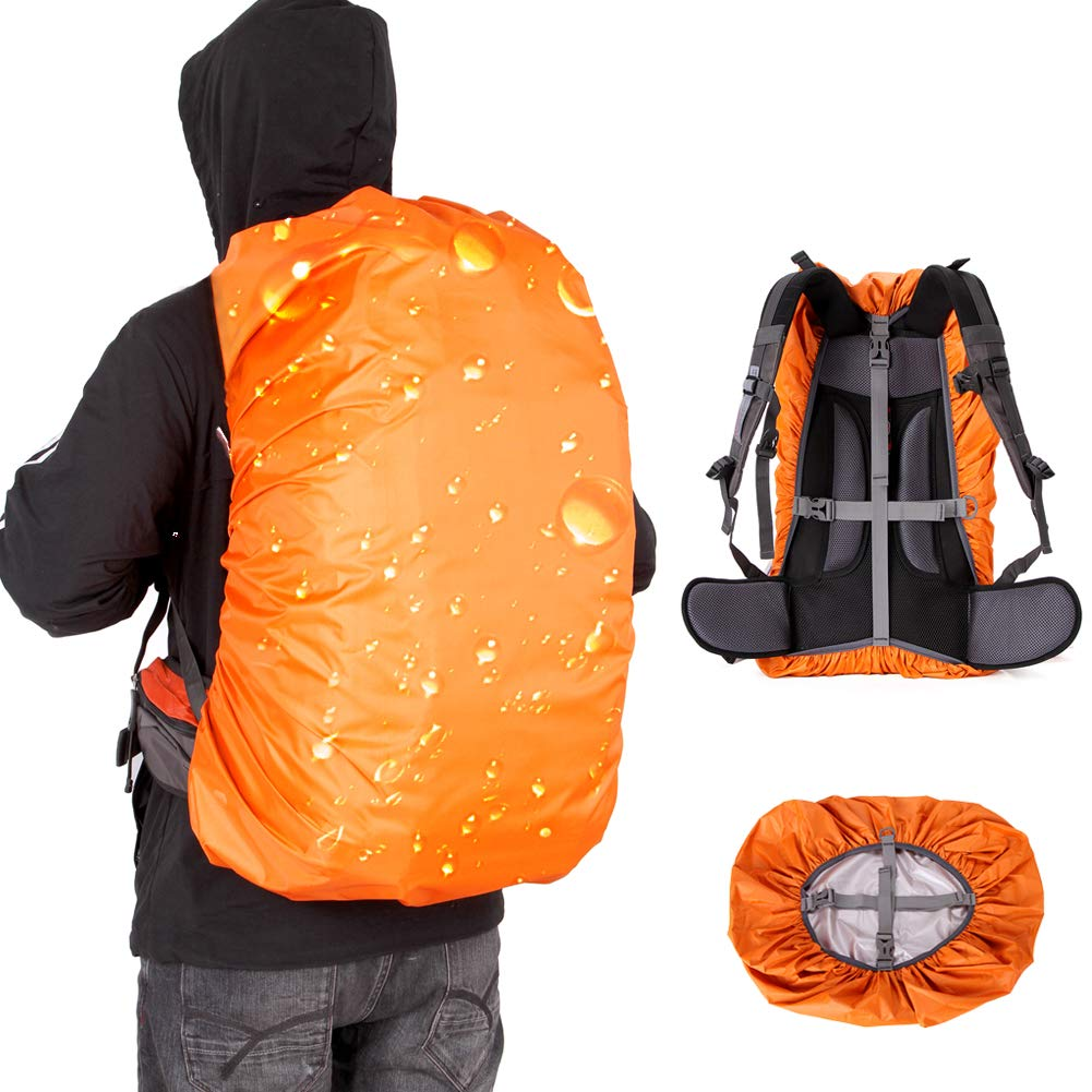 Cycling Outdoor Activities Traveling Camping Loowoko Waterproof Backpack Rain Cover for Upgraded Anti-Slip Cross Buckle Strap /& Rainproof Storage Pouch 25-90L for Hiking