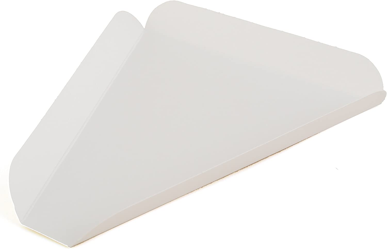 "Southern Champion Tray 1480 Paperboard White Pizza Slice Wedge, 8-7/16"" Length x 7-3/4"" Width (Case of 500)"