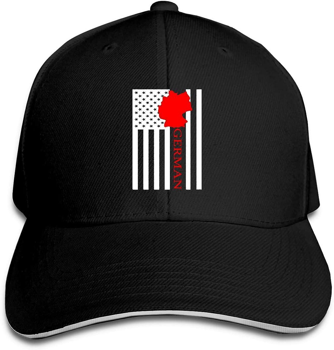 American Flag German Map Outdoor Snapback Sandwich Cap Adjustable Baseball Hat Hip Hop Hat